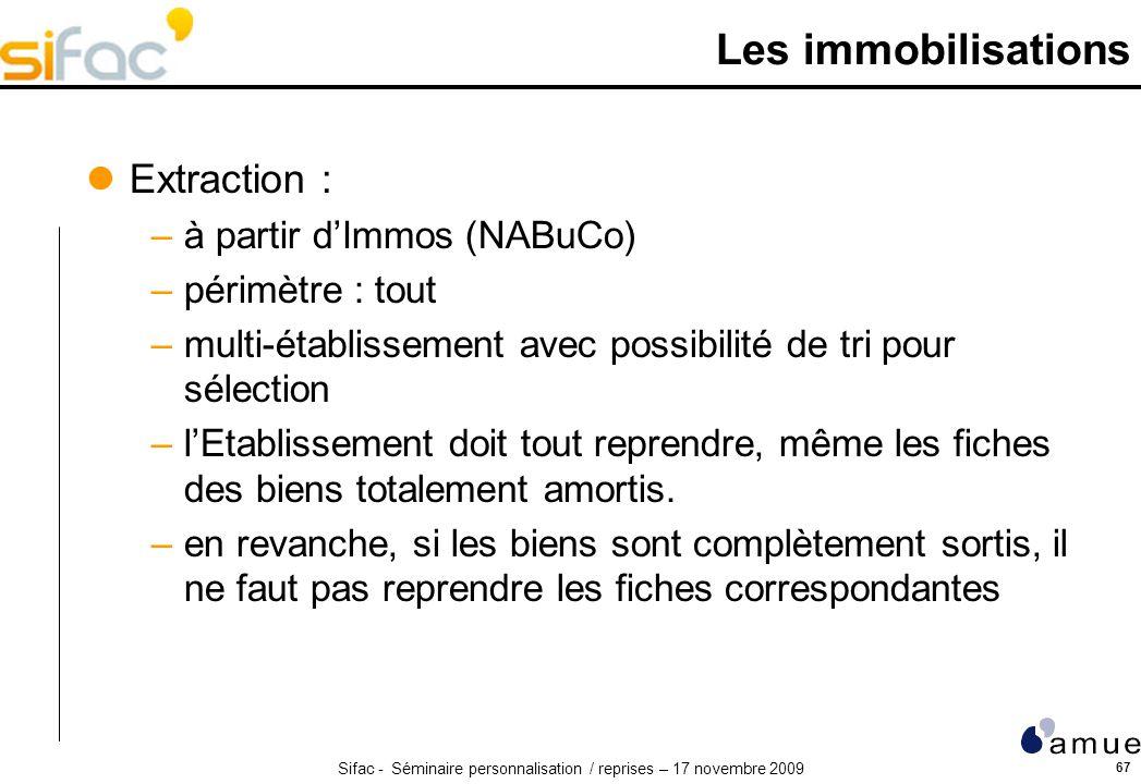 Les immobilisations Extraction : à partir d'Immos (NABuCo)