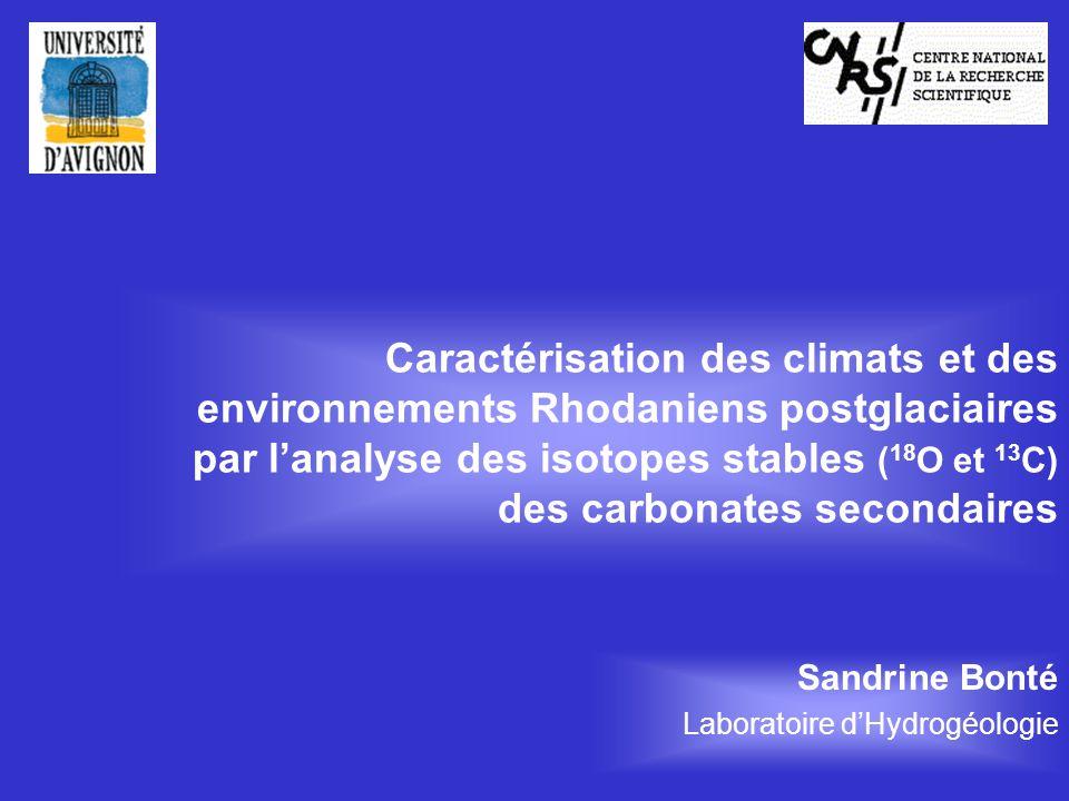 Sandrine Bonté Laboratoire d'Hydrogéologie