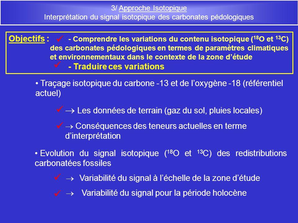 Interprétation du signal isotopique des carbonates pédologiques