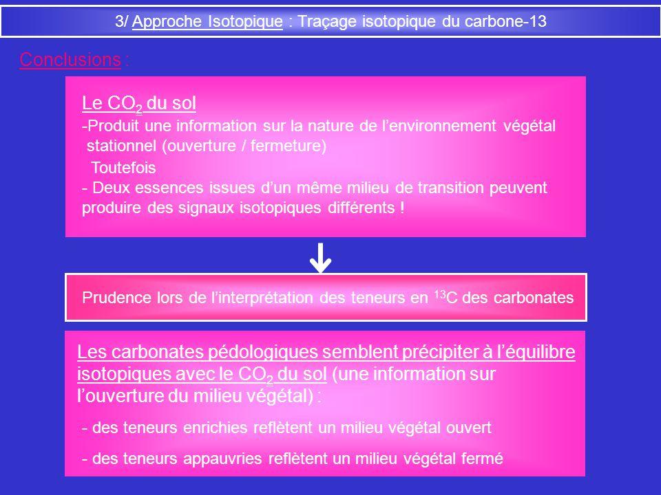 3/ Approche Isotopique : Traçage isotopique du carbone-13