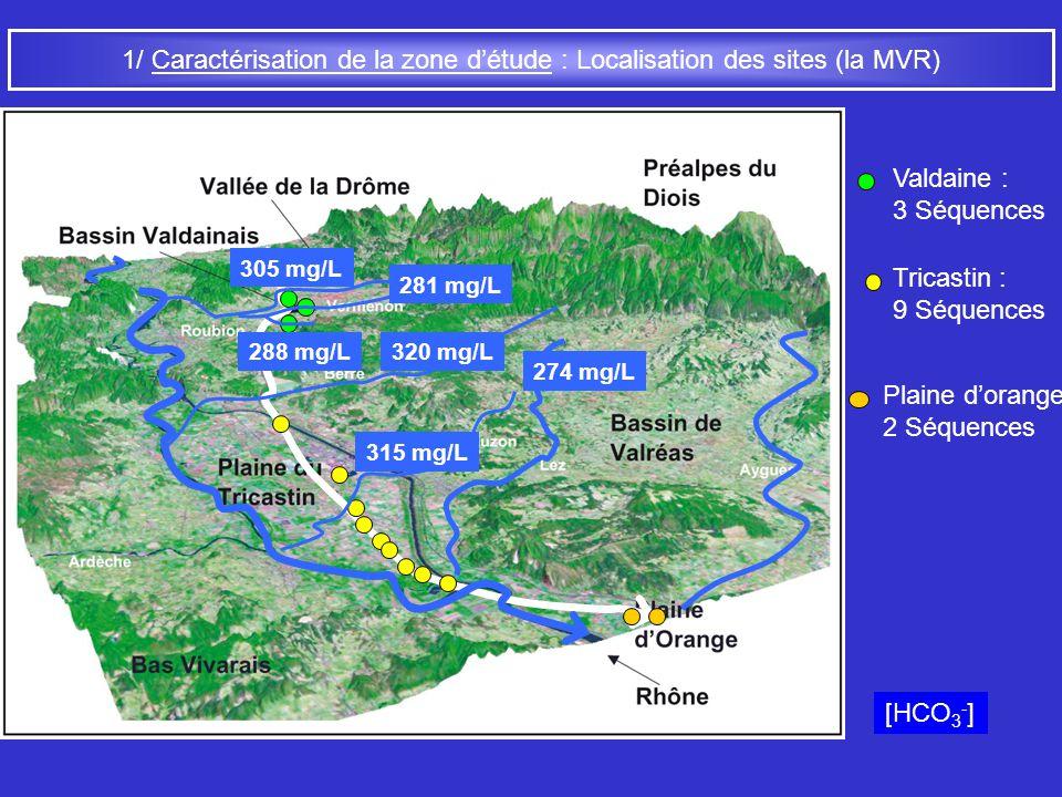 1/ Caractérisation de la zone d'étude : Localisation des sites (la MVR)
