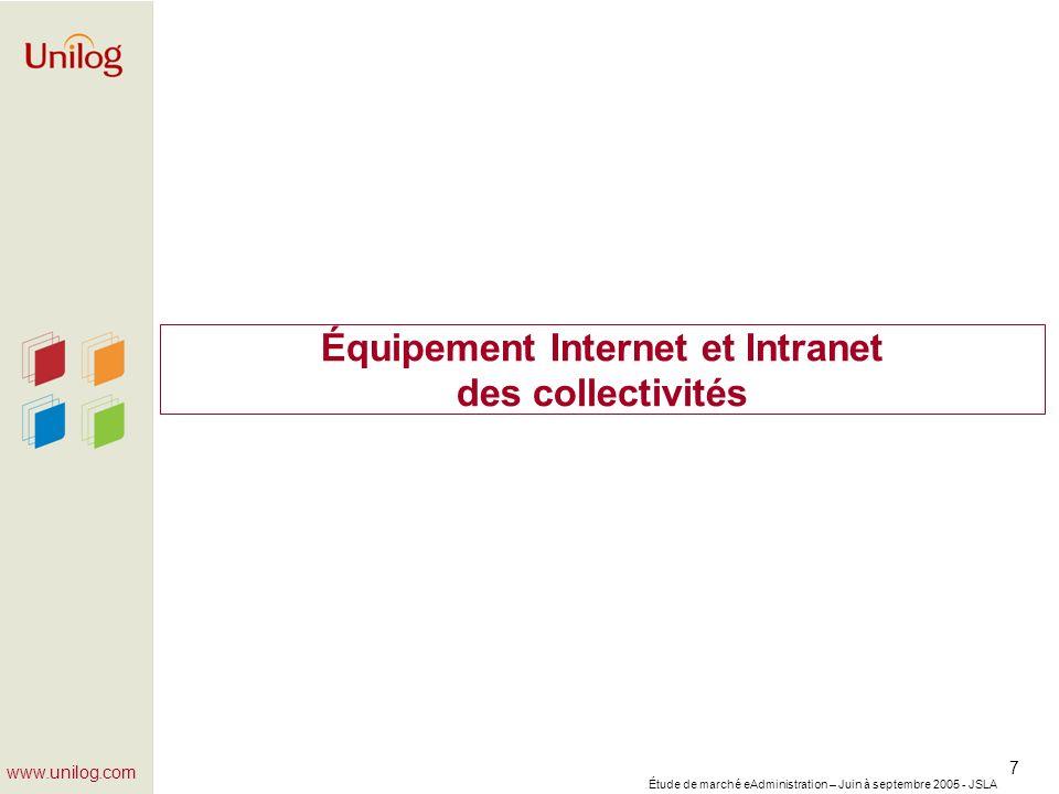 Équipement Internet et Intranet des collectivités