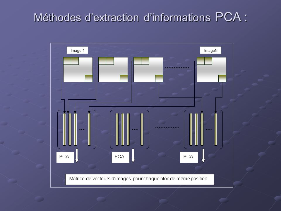Méthodes d'extraction d'informations PCA :