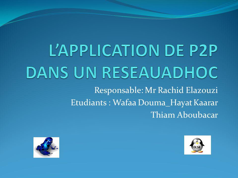 L'APPLICATION DE P2P DANS UN RESEAUADHOC