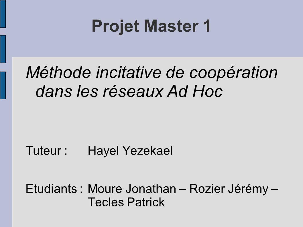 Méthode incitative de coopération dans les réseaux Ad Hoc