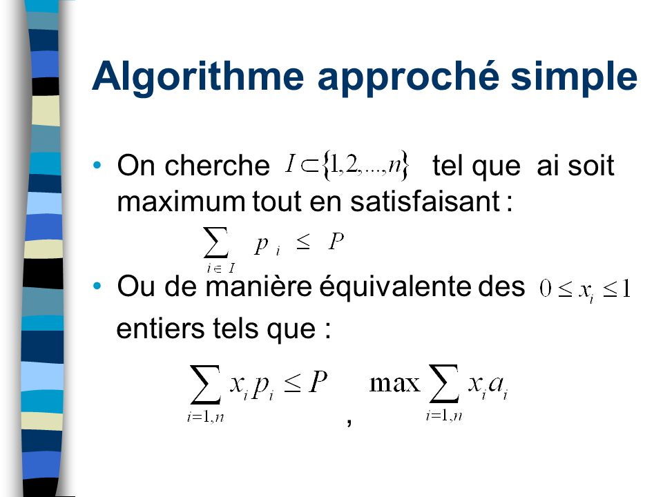 Algorithme approché simple