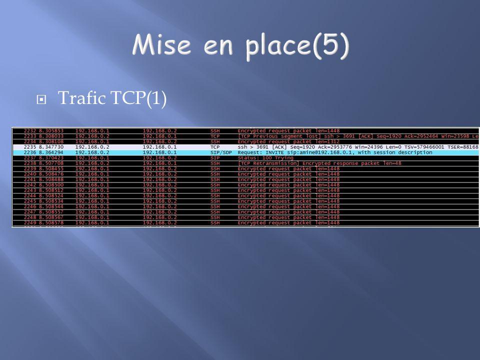 Mise en place(5) Trafic TCP(1)