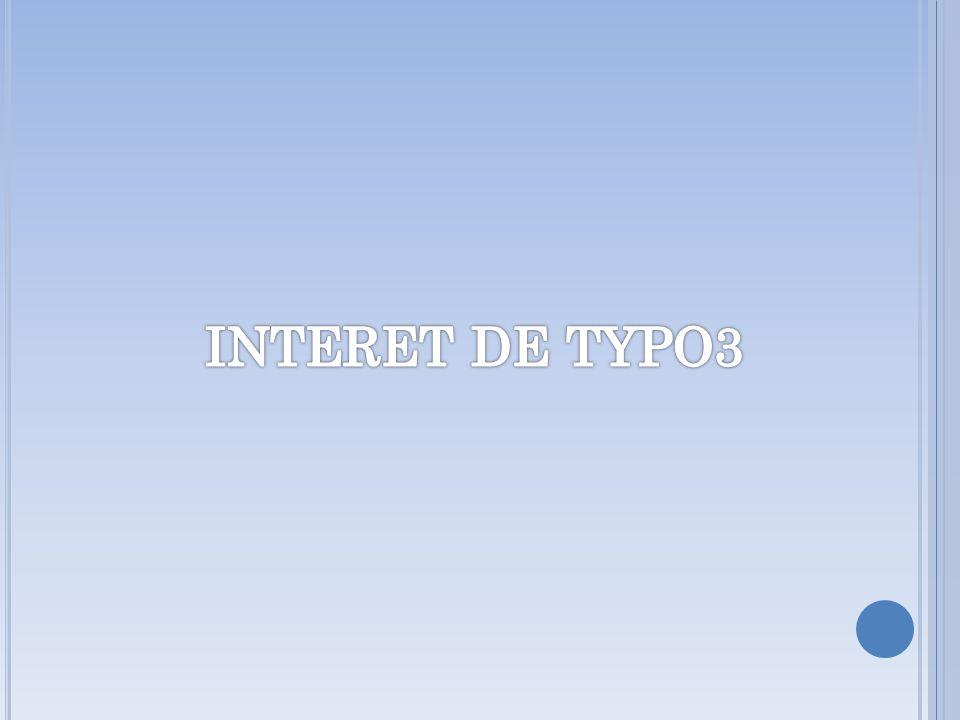 INTERET DE TYPO3