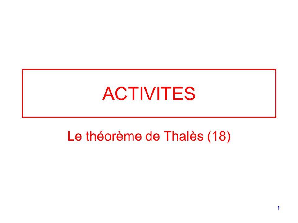 Le théorème de Thalès (18)
