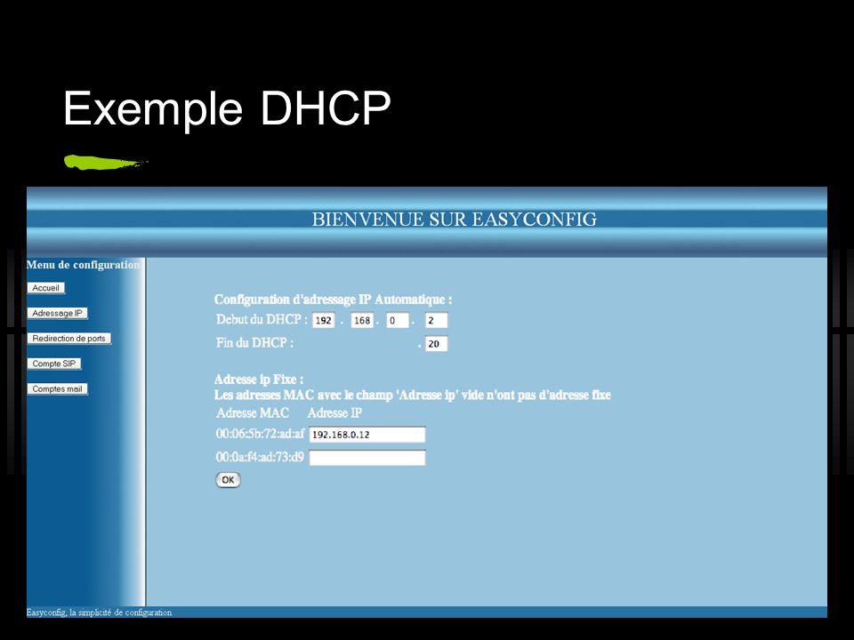 Exemple DHCP