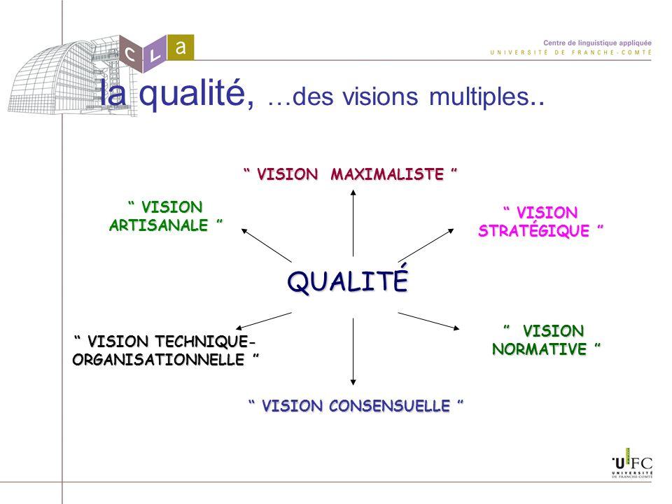 VISION TECHNIQUE-ORGANISATIONNELLE VISION CONSENSUELLE