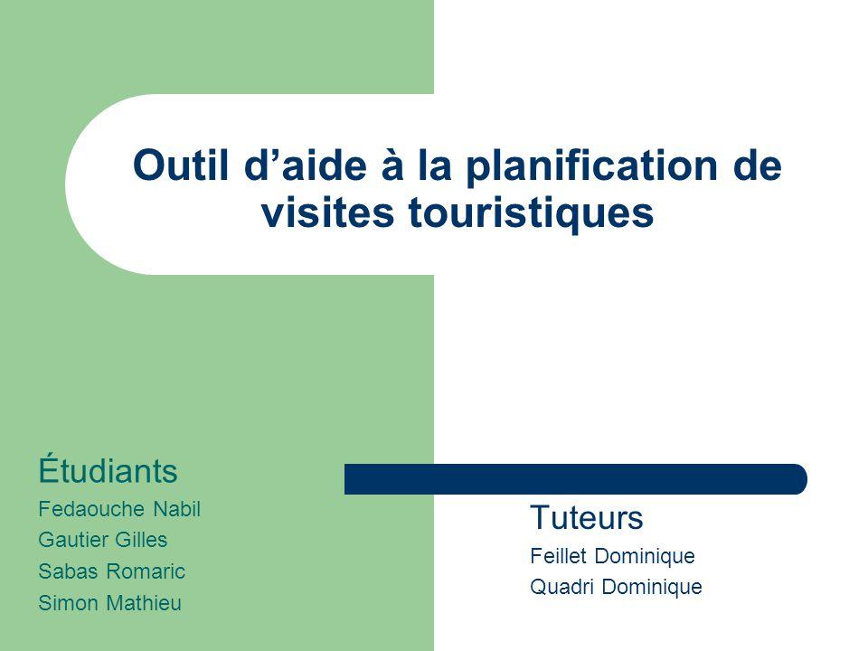Outil d'aide à la planification de visites touristiques