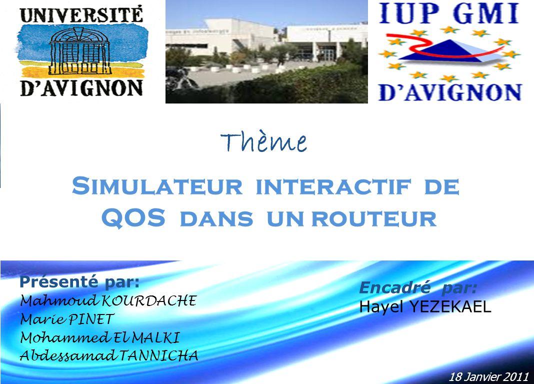 Simulateur interactif de QOS dans un routeur