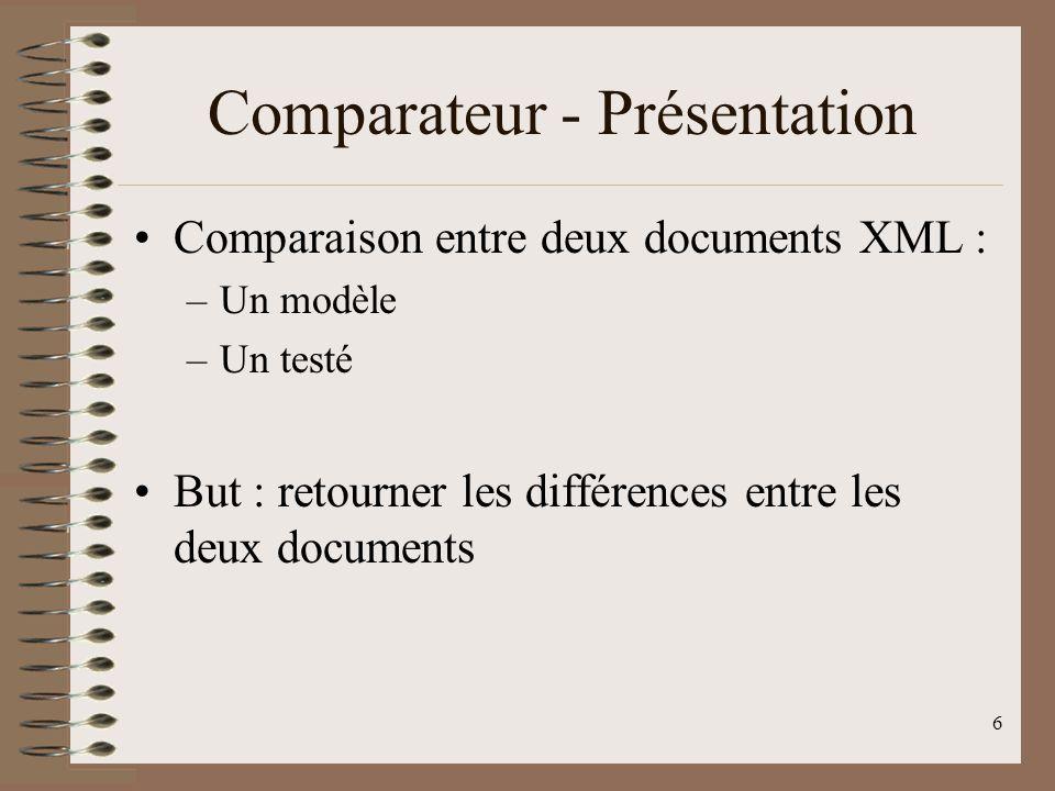 Comparateur - Présentation