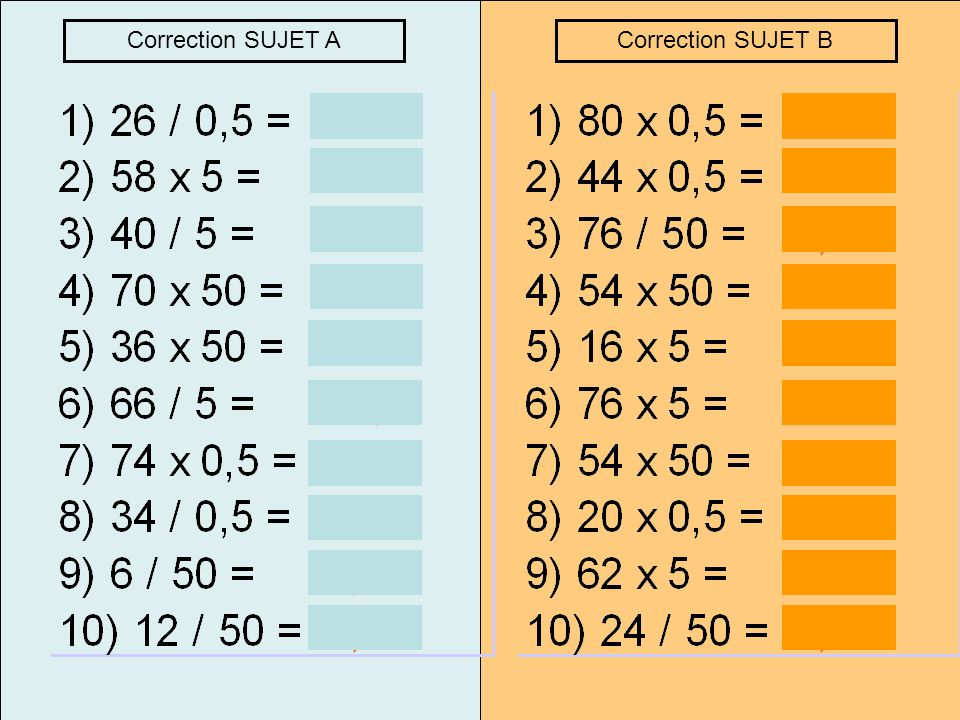 Correction SUJET A Correction SUJET B