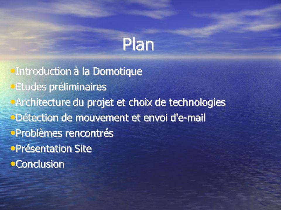 Plan Introduction à la Domotique Etudes préliminaires