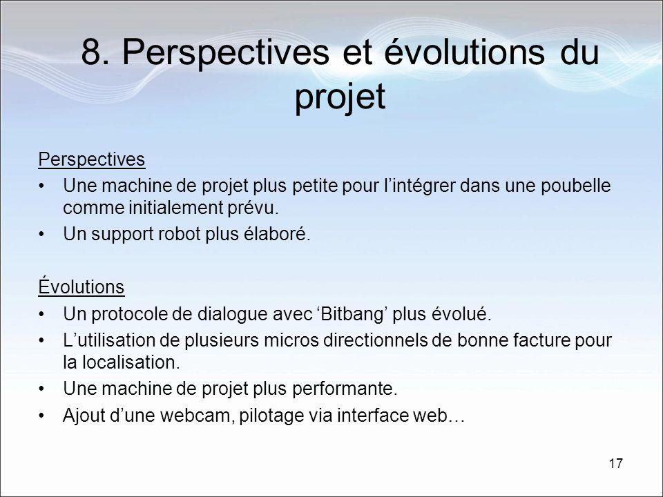 8. Perspectives et évolutions du projet