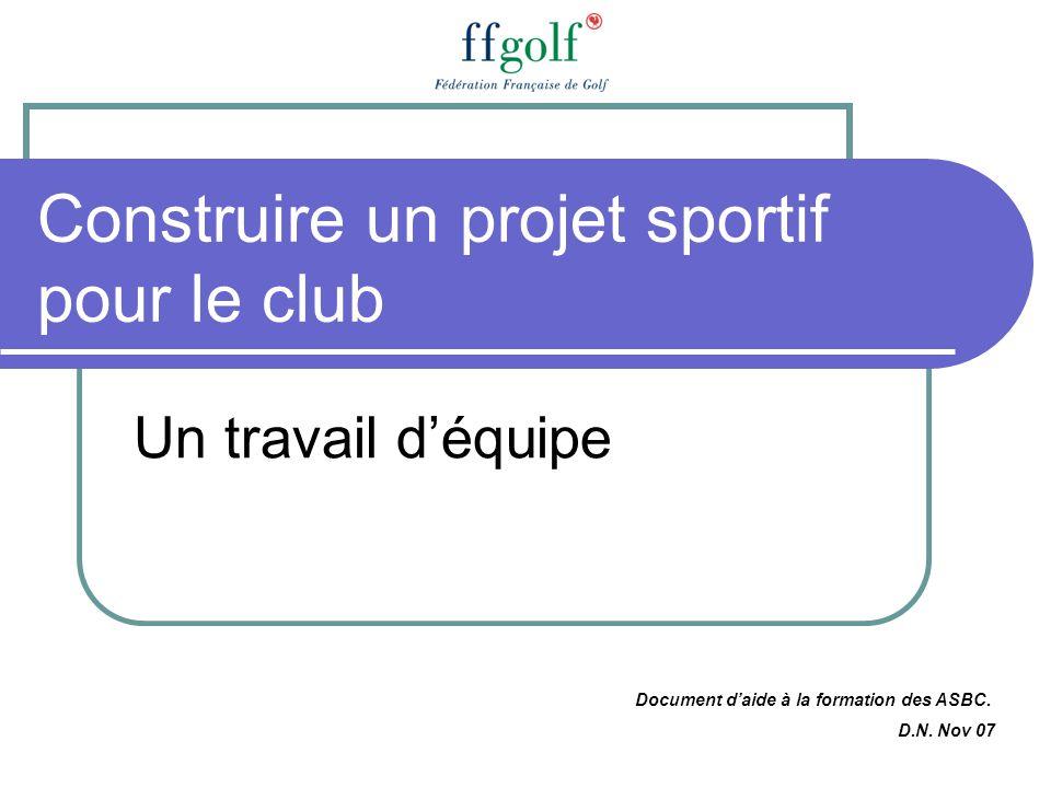 Construire un projet sportif pour le club
