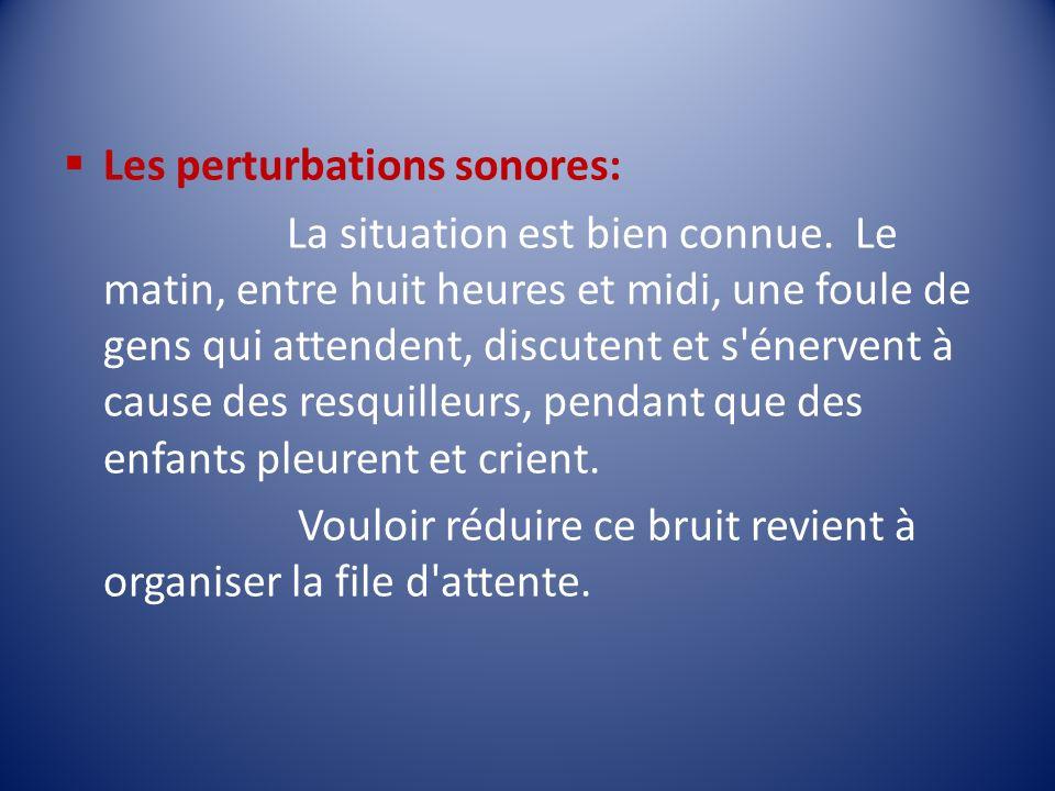 Les perturbations sonores: