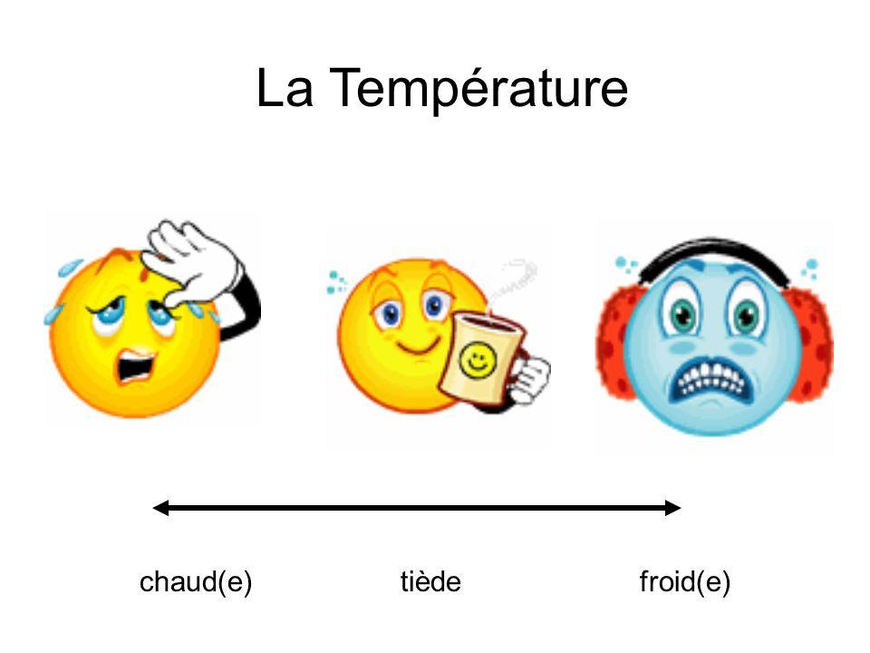 La Température chaud(e) tiède froid(e)