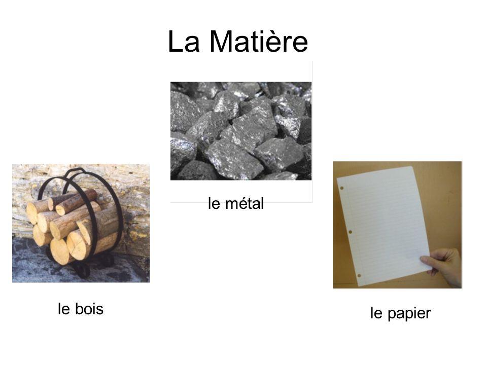 La Matière le métal le bois le papier