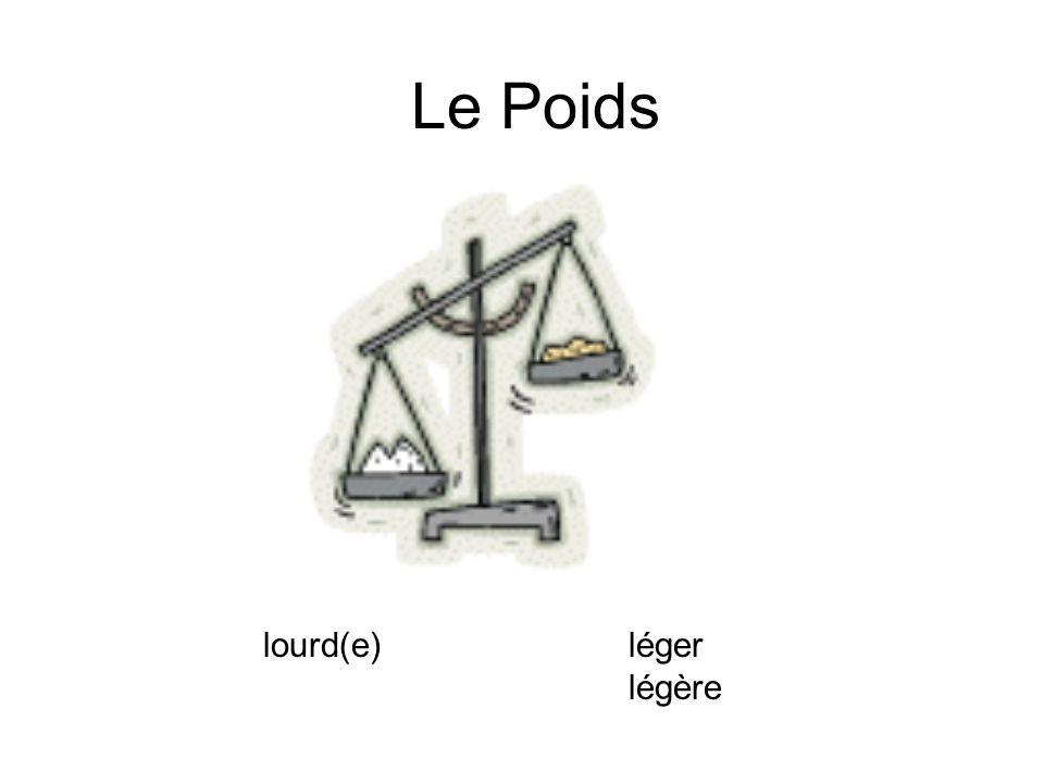 Le Poids lourd(e) léger légère