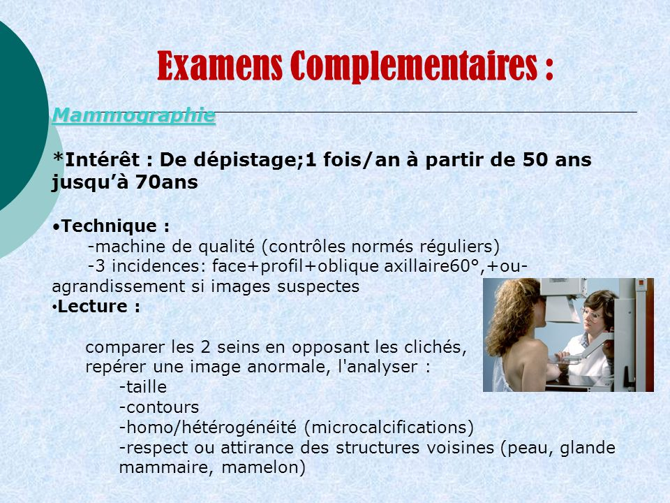 Examens Complementaires :