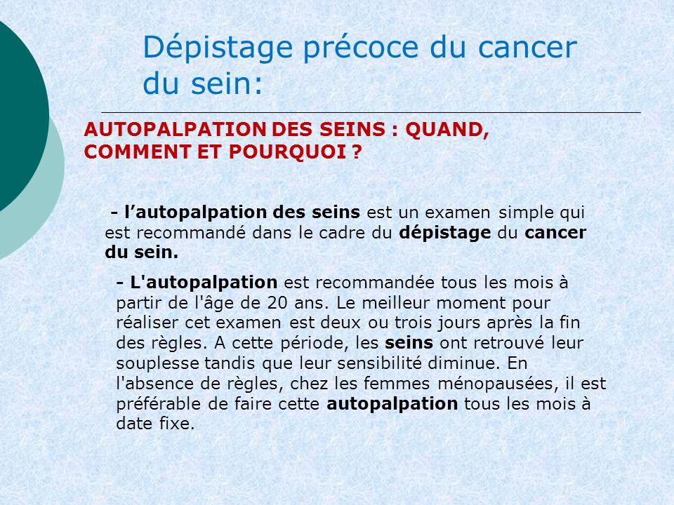 Dépistage précoce du cancer du sein:
