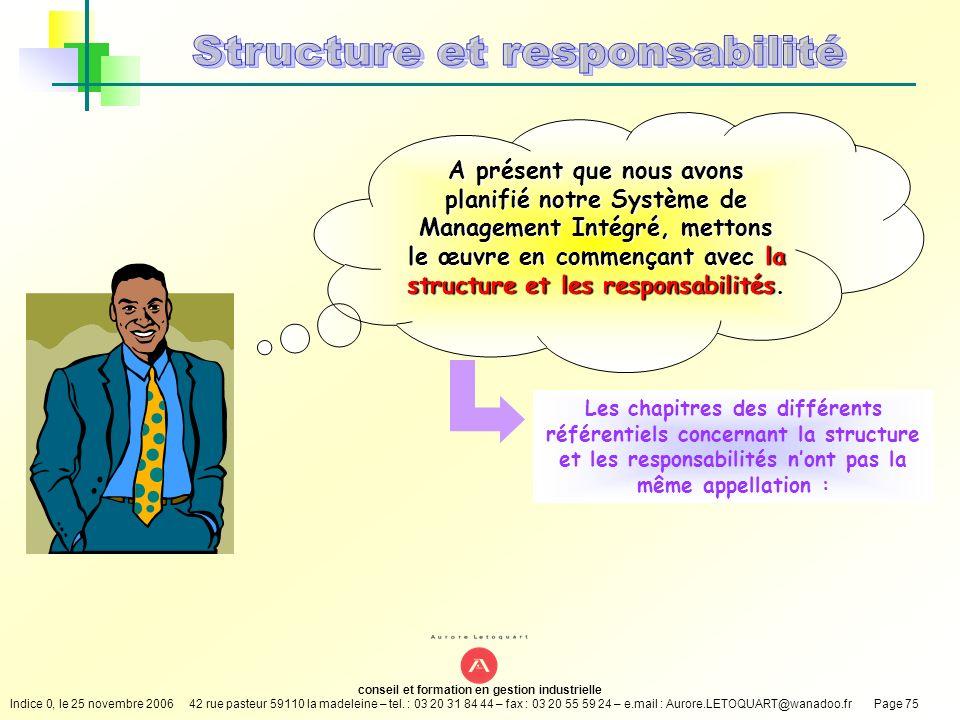 Structure et responsabilité