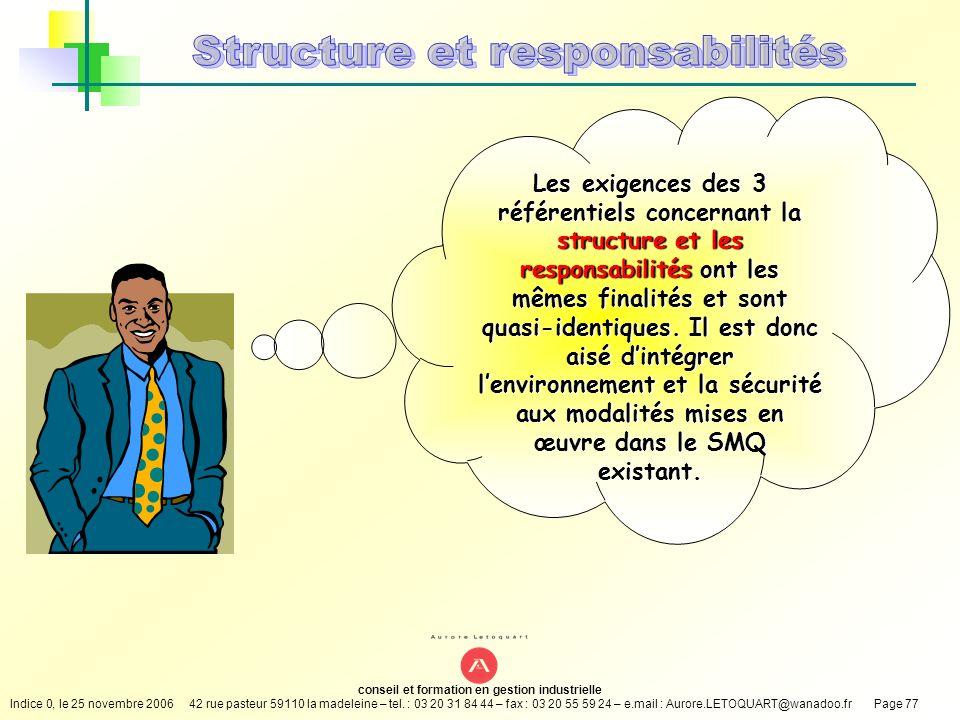 Structure et responsabilités