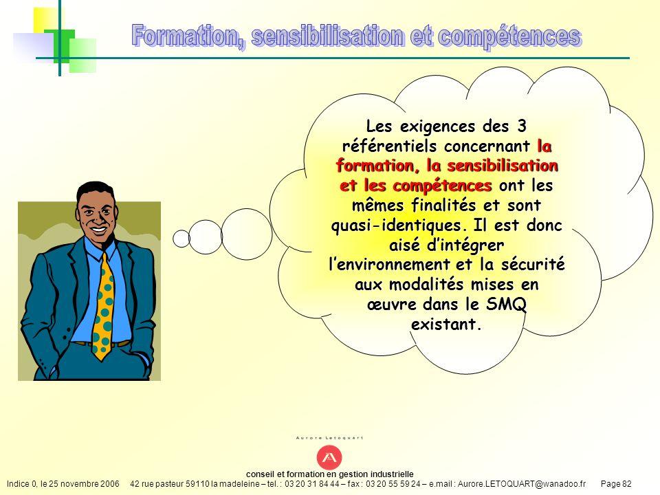 Formation, sensibilisation et compétences