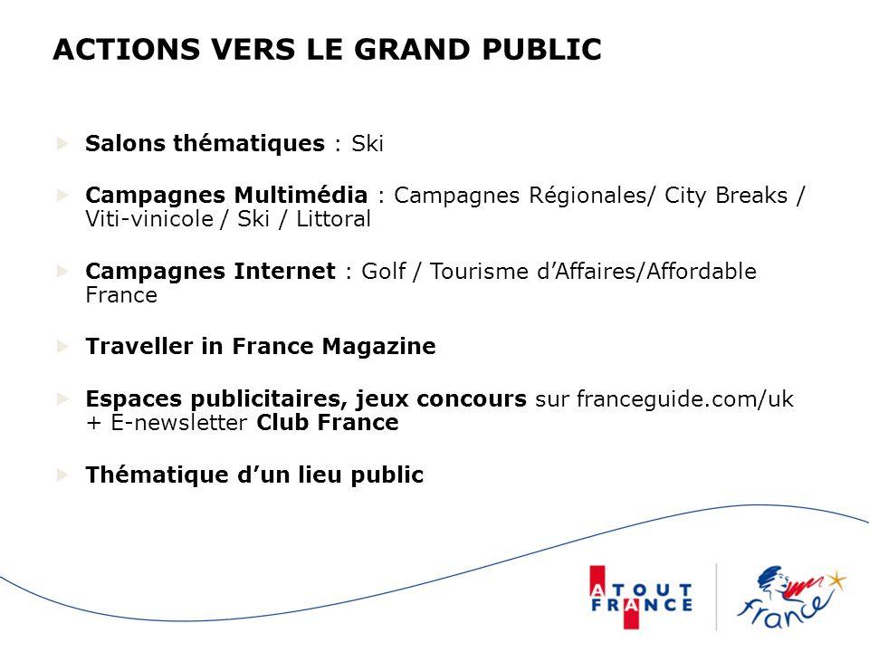 ACTIONS VERS LE GRAND PUBLIC