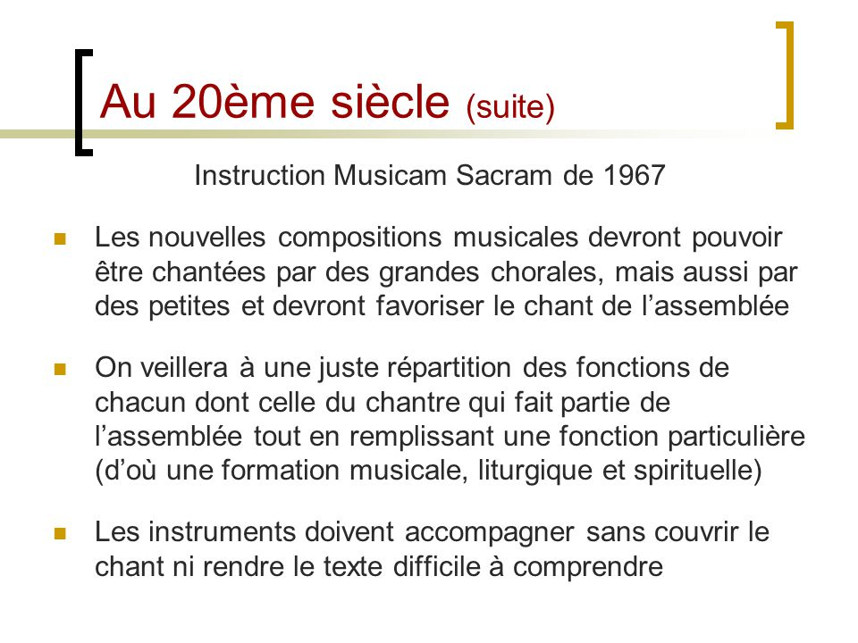 Instruction Musicam Sacram de 1967