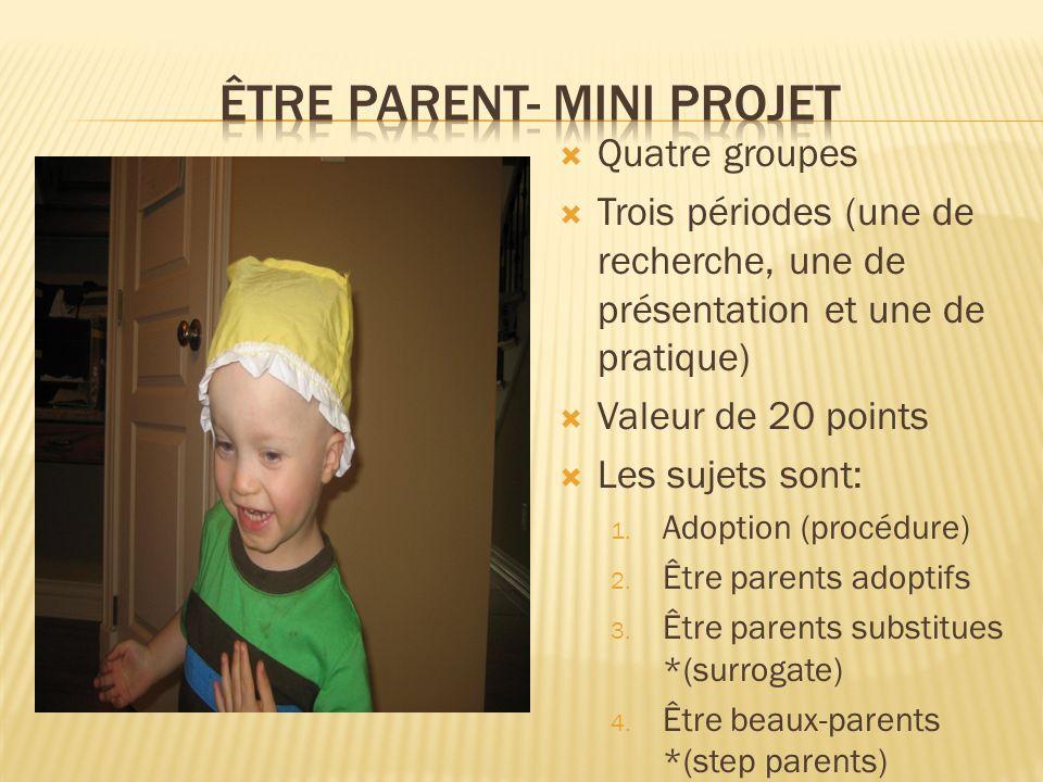 Être Parent- Mini projet