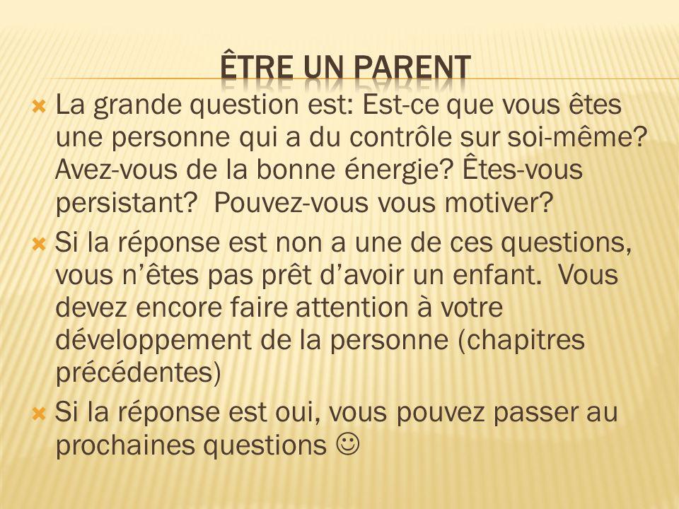 Être un parent