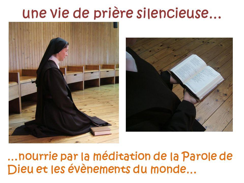 une vie de prière silencieuse…