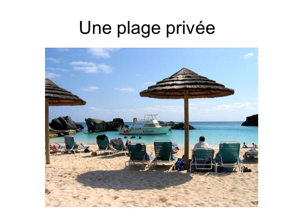Une plage privée