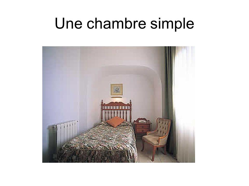 Une chambre simple