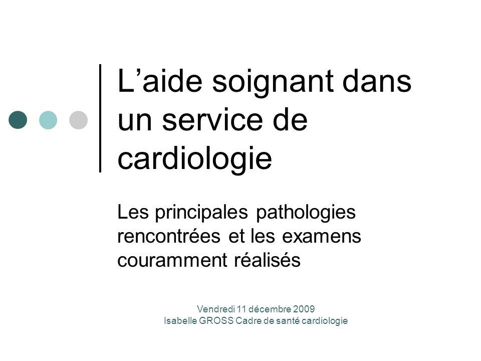 L'aide soignant dans un service de cardiologie