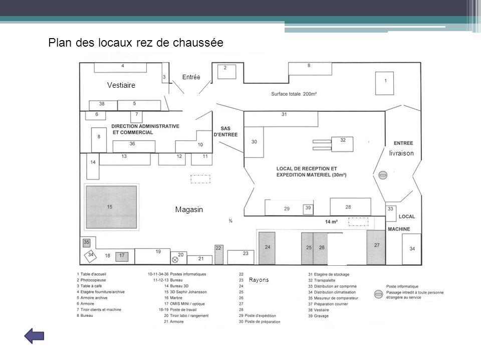 Plan des locaux rez de chaussée
