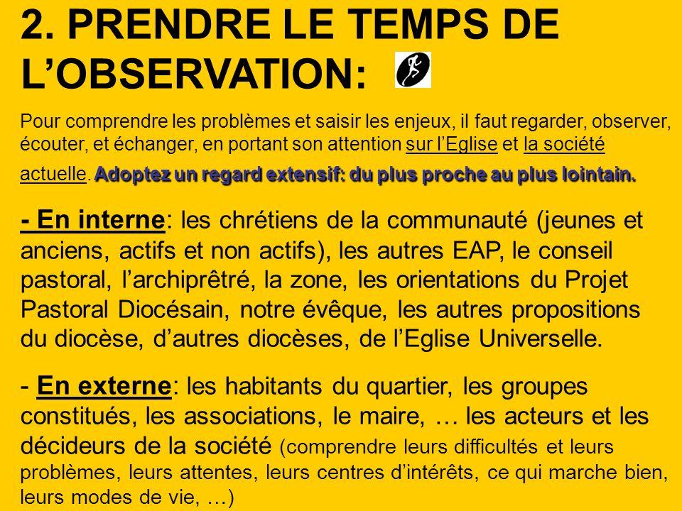 2. PRENDRE LE TEMPS DE L'OBSERVATION: