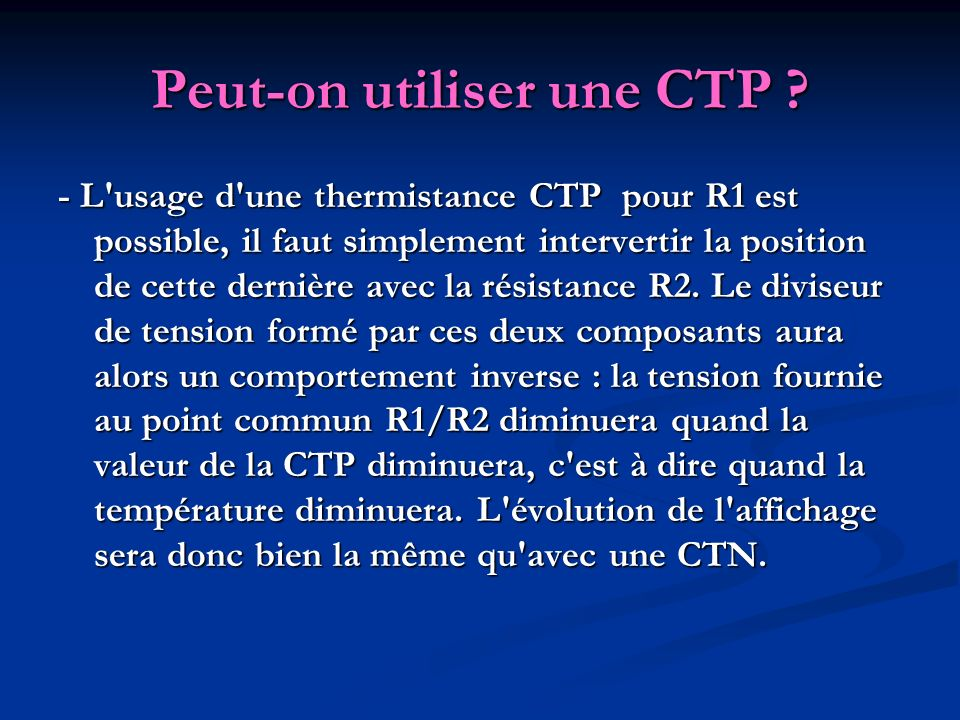 Peut-on utiliser une CTP