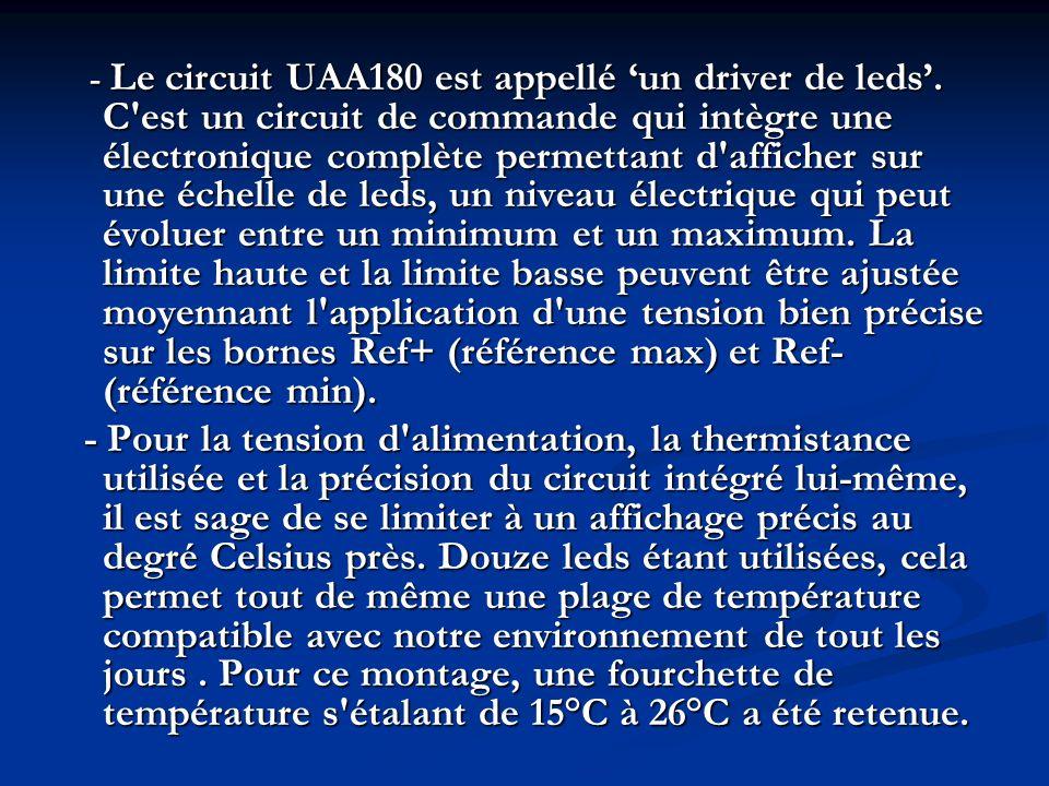 - Le circuit UAA180 est appellé 'un driver de leds'
