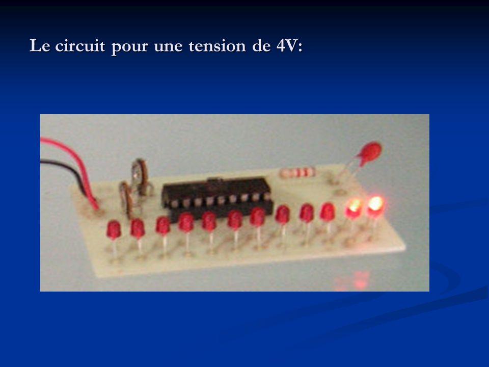 Le circuit pour une tension de 4V: