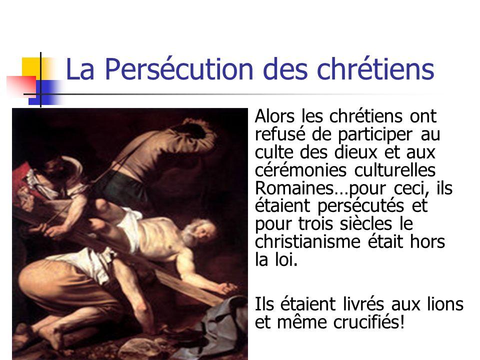 La Persécution des chrétiens