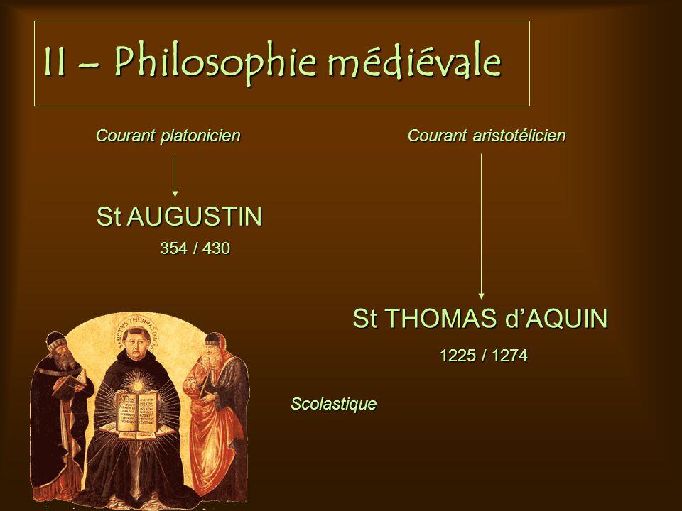 II – Philosophie médiévale