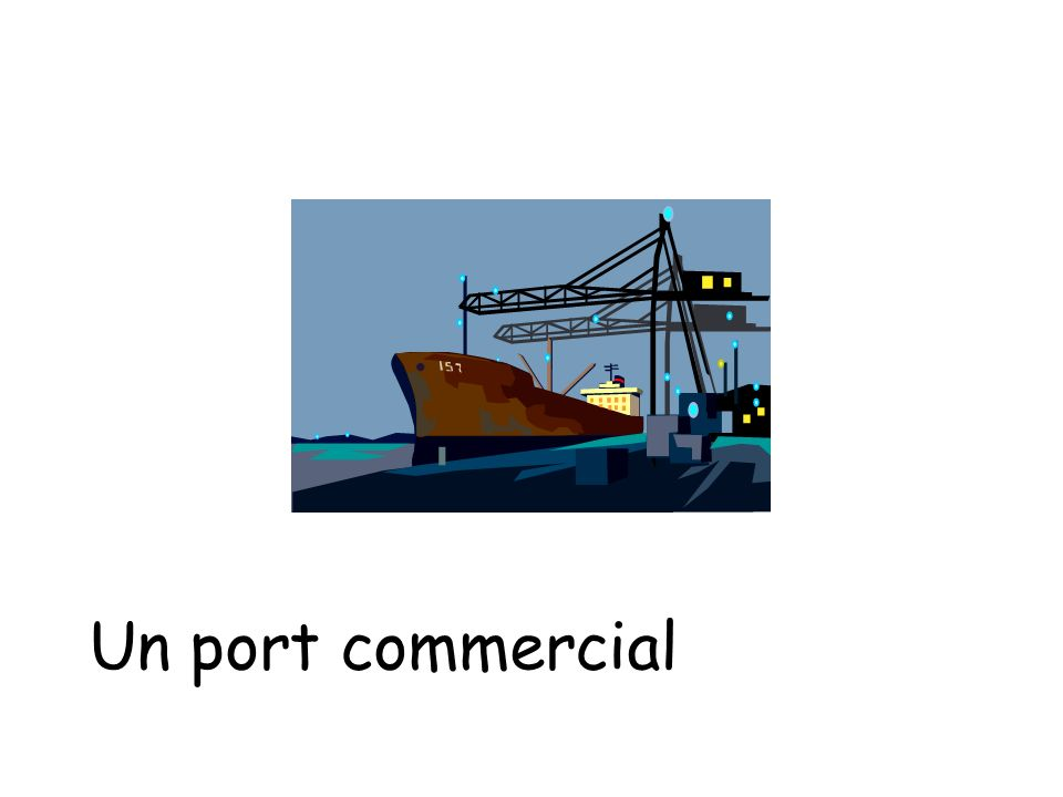 Un port commercial