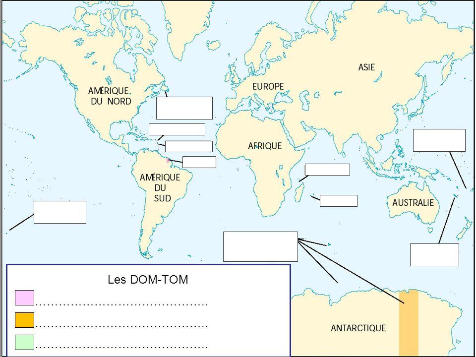 Les DOM-TOM ……………………………………..