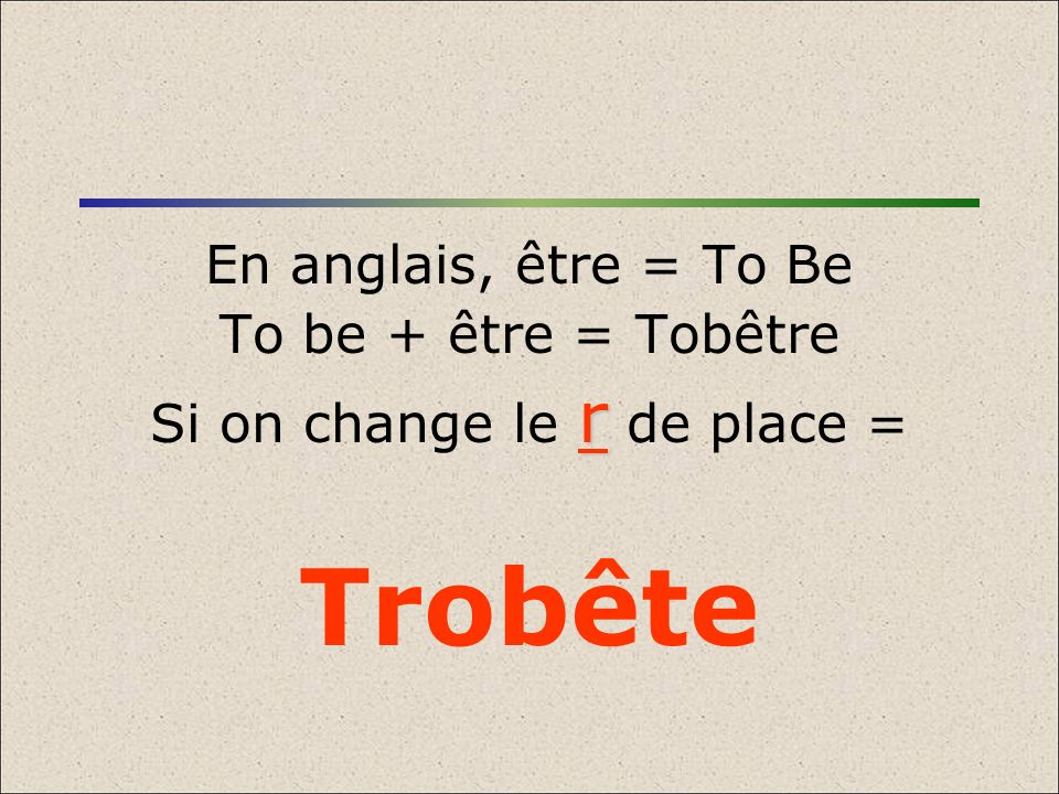 Si on change le r de place =