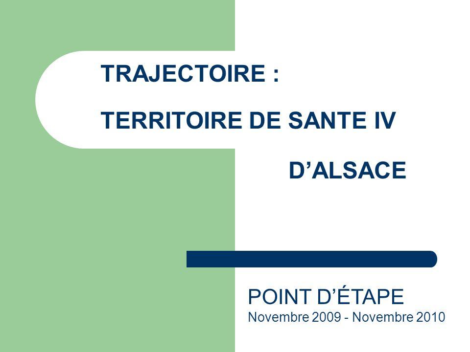 TRAJECTOIRE : TERRITOIRE DE SANTE IV D'ALSACE POINT D'ÉTAPE